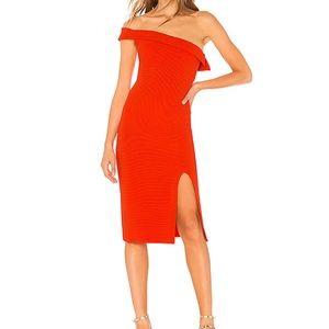 New NBD Kade Midi Dress in Bright Red Size S